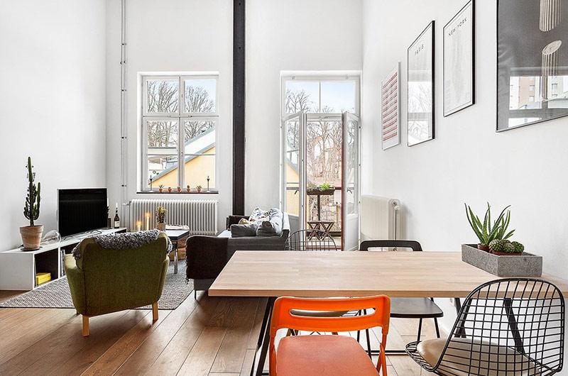 61平小户型loft公寓餐厅装修图