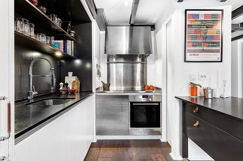 61平小户型loft公寓厨房实景图