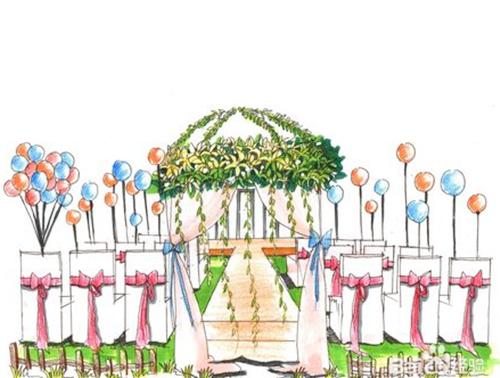 婚礼手绘效果图欣赏 新人如何设计婚礼手绘
