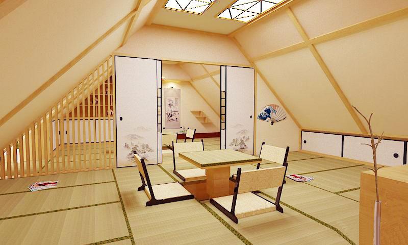 阁楼榻榻米装修效果图 演绎创意家居新空间