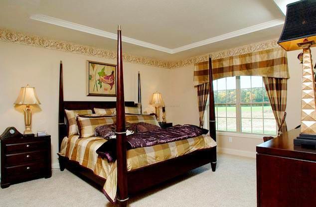 美式复古卧室装修装饰效果图