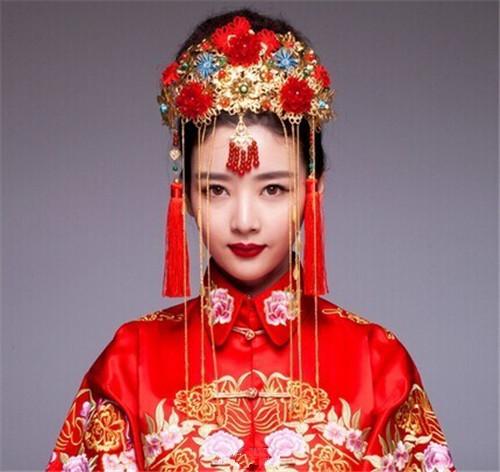 中式新娘造型图解 2017中式新娘发型图片大全