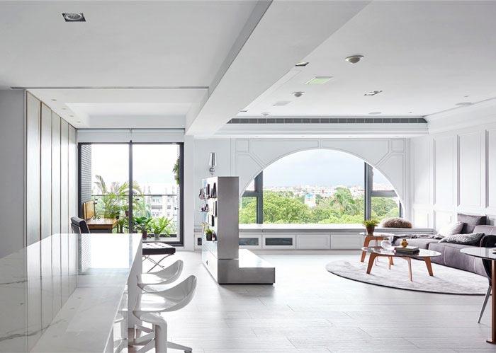 现代美式风格三居室整体效果图