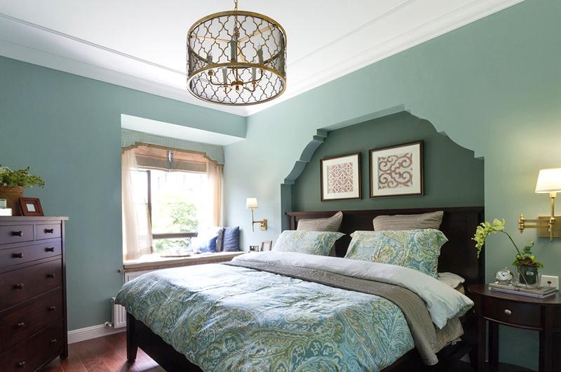 100平美式三居室主卧室装修图_齐家网装修效果图图片