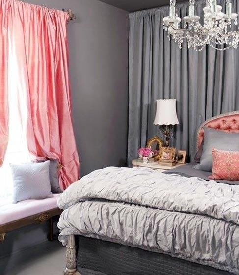 色彩拼接卧室装修图片