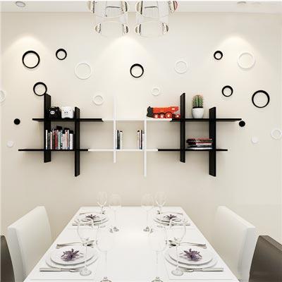 餐厅墙面收纳架装修装饰图片