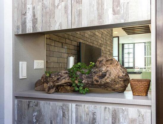 多元素混搭小復式 木材磚石禪意韻味