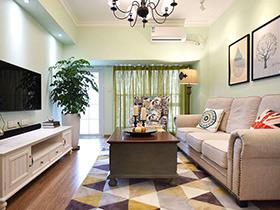 78平美式风格小二居装修效果图 苍松翠柏