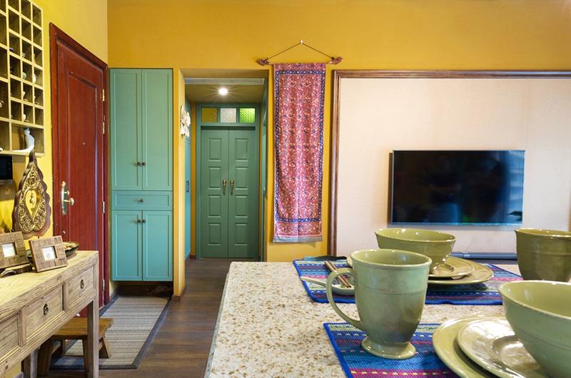 45平小户型一居客厅电视背景墙