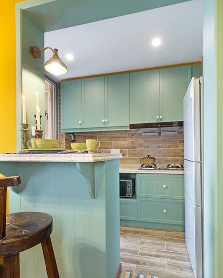 45平小户型一居厨房吧台设计