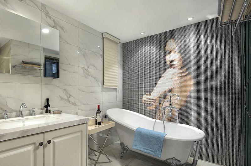 60平小户型一居卫生间浴缸图片