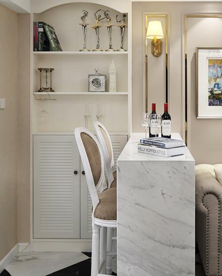 60平小户型一居吧台装修设计图