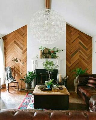客厅木质电视背景墙图片大全