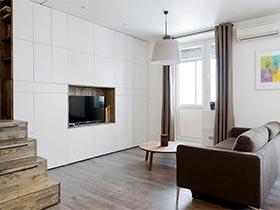 35㎡简约单身公寓设计图  小巧玲珑