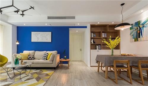 80平米两室一厅装修效果图 80平打造艺术家的清新美居