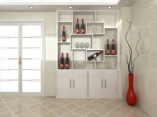 客厅酒柜已经成为不可或缺的一种家具装饰,一般酒柜都是摆设在客厅