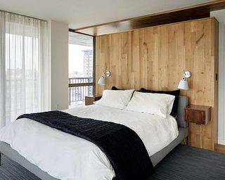 卧室木制床头设计图