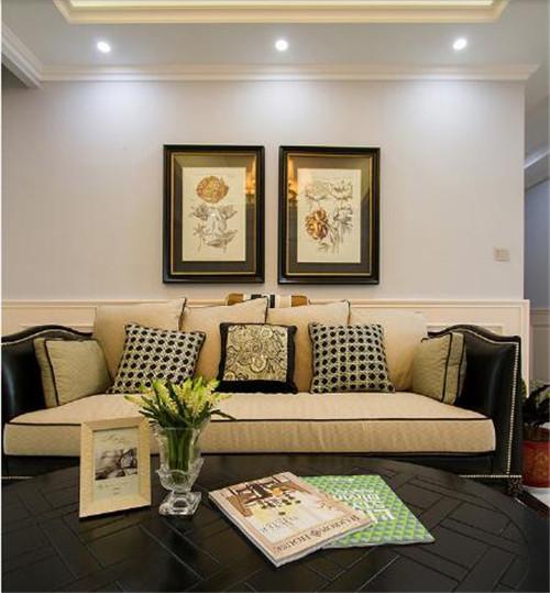 美式沙发背景墙效果图 个性背景墙给你一个新的生活图片