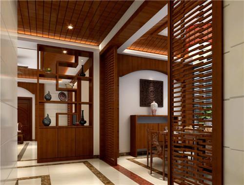 中式玄关设计效果图 极具中国风元素的玄关设计