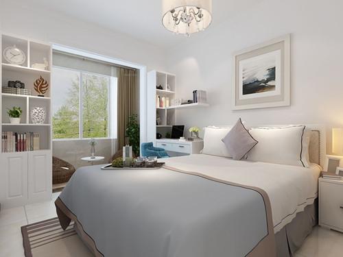 现代简约卧室装修效果图 8平米打造灵动现代简约风