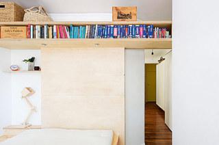 42平小户型一居卧室书架设计图