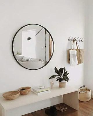 10个玄关装修镜子效果图 团团圆圆才是家6/10