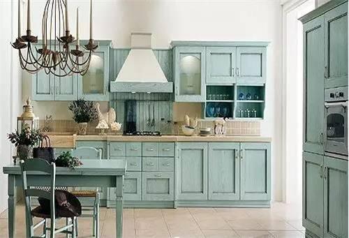 欧式厨房装修效果图2017厨房欧式新风v厨房节俭潮流图片