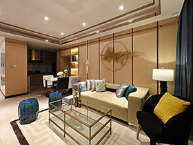 106平现代简约风格两室两厅装修 爱无边界