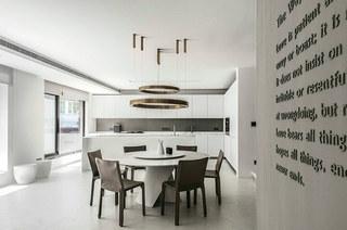400平独栋别墅装修餐厅效果图设计