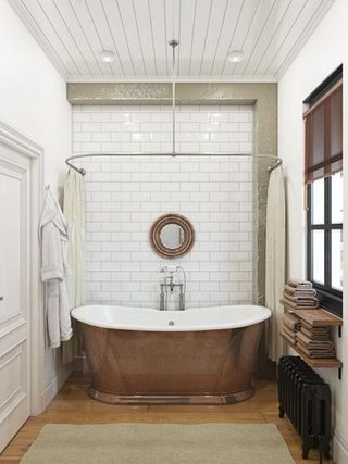 小户型创意工业loft风浴缸图片