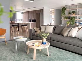 105平现代简约风格三室一厅房子装修 优雅的光芒