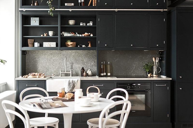 北欧风格单身公寓厨房装修设计