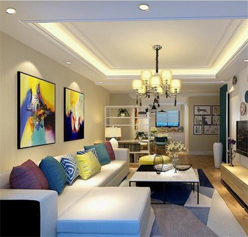客厅家装效果图 个性饰品把多彩客厅带回家