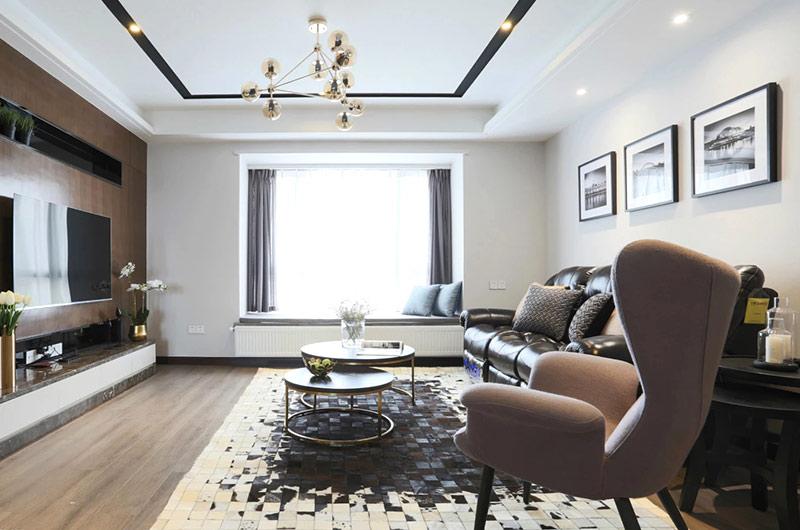 132平三房两厅装修客厅效果图