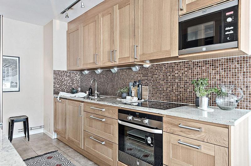 北欧风格一居室装修木质橱柜设计