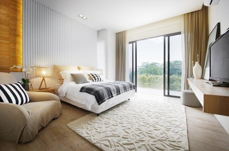 现代极简风卧室构造图