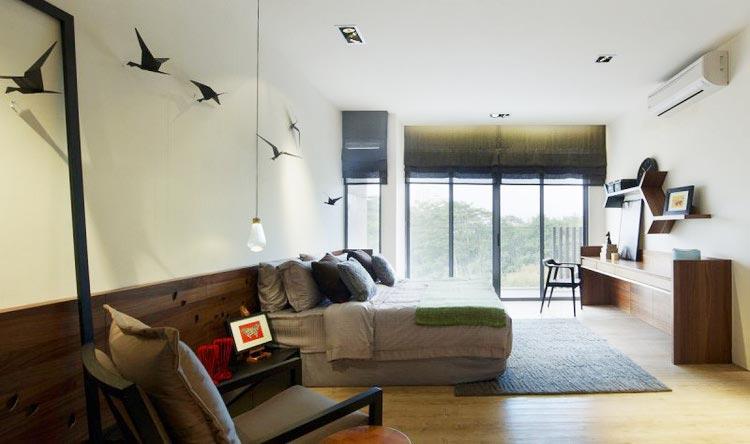 现代极简风卧室家居布置图