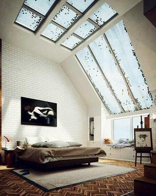 卧室裸砖背景墙图片大全