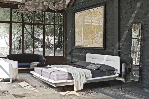 黑色卧室裸砖背景墙构造图