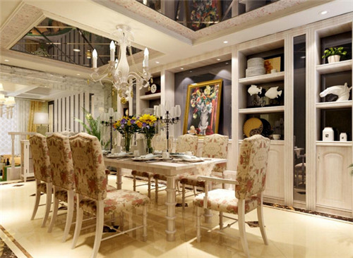 充满浪漫情怀欧式装修餐厅设计案例【宝鸡家装公司电话】