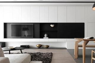 简约风格公寓装修电视背景墙设计