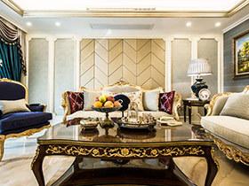 190平欧式风格四房装修效果图 奢华贵族风