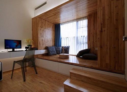 就拿6平米卧室来说吧!最不好设计布置的就是家具.图片