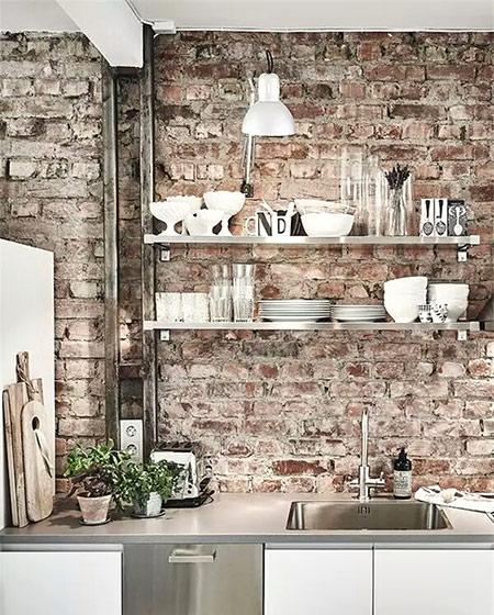 厨房背景墙装修设计效果图