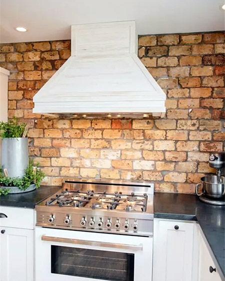 厨房砖墙背景墙壁纸图片