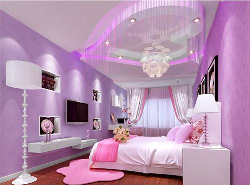 紫色窗帘效果图 梦幻紫色装点浪漫家居