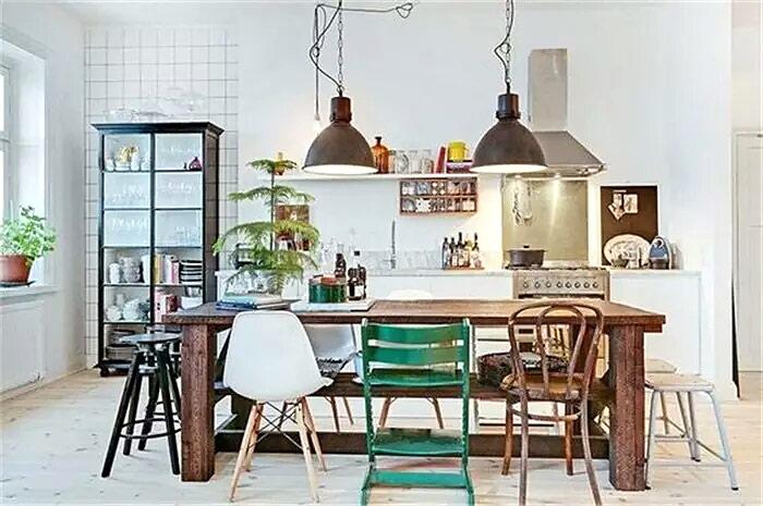 混搭风格餐厅桌椅效果图