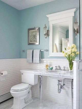 蓝色系卫生间设计参考图