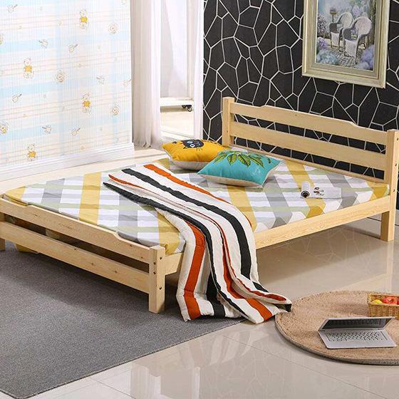 卧室木板床设计装修效果图