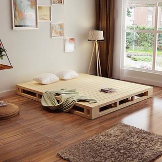 卧室木板床装修装饰图